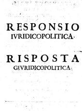 Risposta giuridico-politica al libro intitolato Li dritti di Giovanni IV