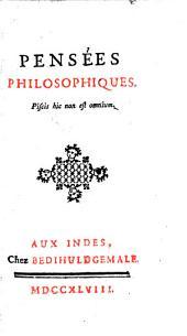 Pensées philosophiques: Volume1