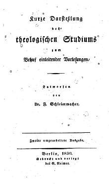 Kurze Darstellung des theologischen Studiums PDF