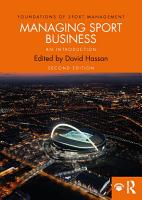 Managing Sport Business PDF