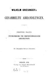 Gesammelte Abhandlungen: Band 1