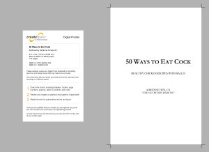 50 Ways To Eat Cock