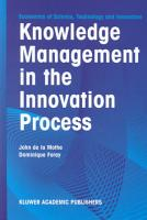 Knowledge Management in the Innovation Process PDF