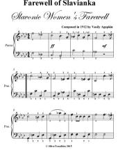 Farewell Slavianka Slavonic Women's Farewell - Easy Piano Sheet Music