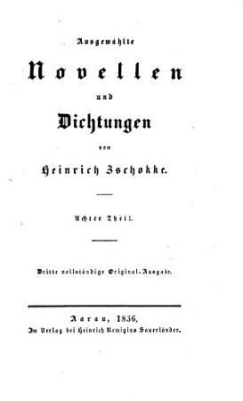 Ausgew  hlte Novellen und Dichtungen von Heinrich Zschokke PDF