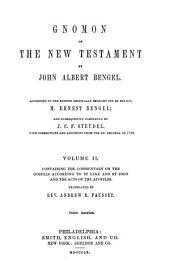 Gnomon of the New Testament: Volume 2