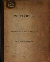 Zu Plautus ...