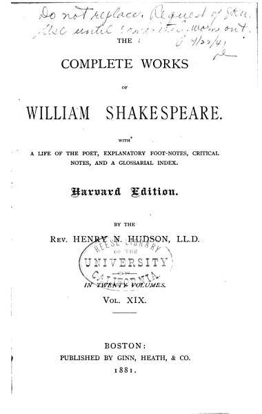 Download The Complete Works of William Shakespeare Book