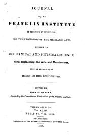 Journal of the Franklin Institute: Volume 34; Volume 64
