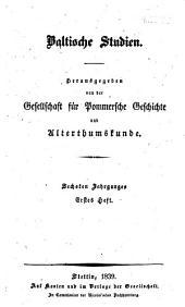 Baltische Studien: Band 6