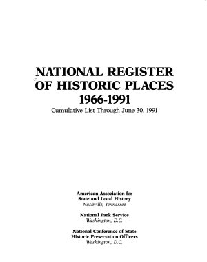 The National Register of Historic Places PDF