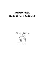American Infidel   Robert G  Ingersoll