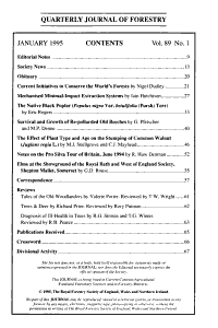 Quarterly Journal of Forestry PDF