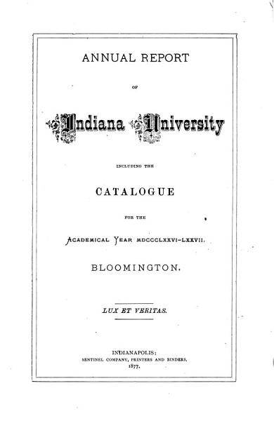 Download The Indiana University Catalogue     Register     Announcements Book