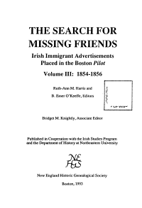 The Search for Missing Friends  1854 1856 PDF