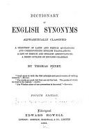 Dictionary of English Synonyms  Alphabetically Classified     PDF