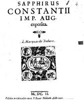Sapphirus Constantii Imp. Aug. exposita