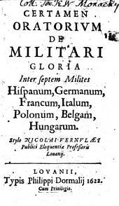 Certamen oratorium de militari gloria inter septem milites