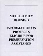 Multifamily Housing: Information on Projects Eligible for Preservation Assistance