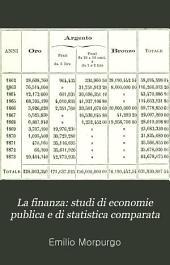 La finanza: studi di economie publica e di statistica comparata