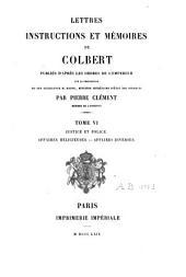 Lettres, instructions et mémoires: Volume6