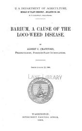 Barium, a Cause of the Loco-weed Disease