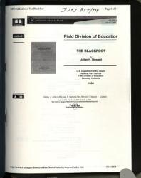 The Blackfoot PDF