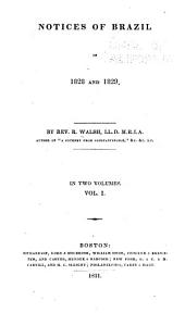 Notices of Brazil in 1828 and 1829: Volume 1