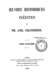 Oeuvres historiques inédites