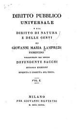 Diritto pubblico universale: o sia Diritto di natura e delle genti