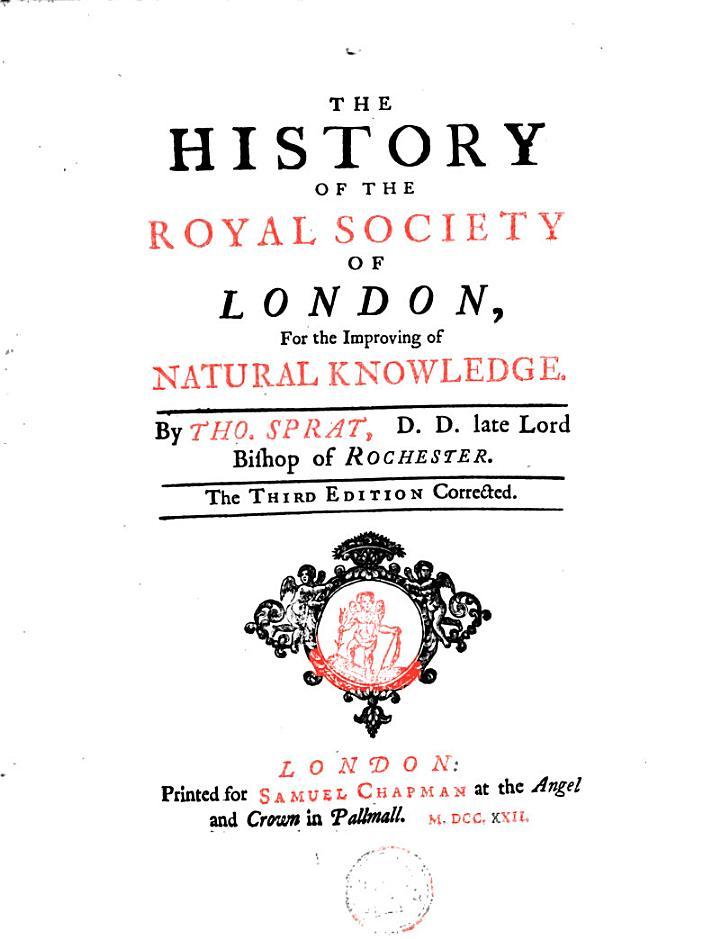 The History of the Royal Society of London