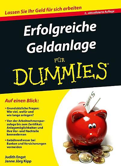 Erfolgreiche Geldanlage f  r Dummies PDF