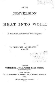 On the Conversion of Heat Into Work PDF