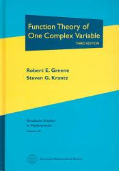 Function Theory Of One Complex Variable Book PDF