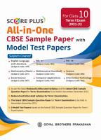 Score Plus All In One CBSE Sample Paper With Model Test Papers For Class 10 Term 1 Examination PDF
