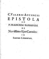 Epistola ad P. Francium Barbarum de novissimo ejus carmine in scurram litterarium: Volume 1