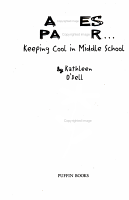 Agnes Parker   Keeping Cool in Middle School PDF