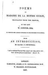 Poems of Madame de la Mothe Guion