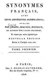 Synonymes français avec leurs différentes significations: Volume1