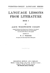 Language Lessons from Literature: Book 1