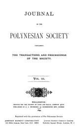 Journal of the Polynesian Society: Volume 3