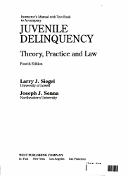 Instructor S Manual With Test Bank To Accompany Juvenile Delinquency Book PDF