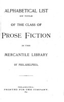 Alphabetical List  by Title  of the Class of Prose Fiction PDF