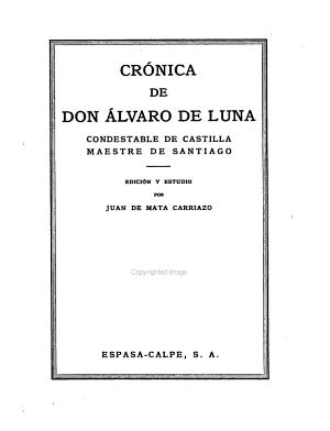 Don Alvaro De Luna Condestable De Castilla