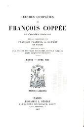 Œuvres complètes de François Coppée: Volume15