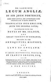 De Laudibus Legum Angliæ
