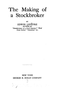 The Making of a Stockbroker PDF