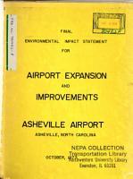 Asheville Airport Expansion PDF