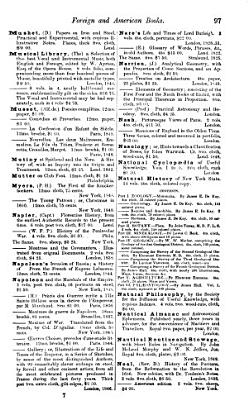 Catalogue of Foreign and American Books  comprising     books in every class of Literature  the Fine Arts  Natural History  Sciences  Useful Arts  etc      for sale by G  P  Putnam