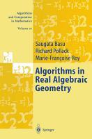 Algorithms in Real Algebraic Geometry PDF